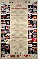Cow Palace 50th Anniversary calendar and poster Poster