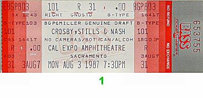 Crosby, Stills & Nash1980s Ticket