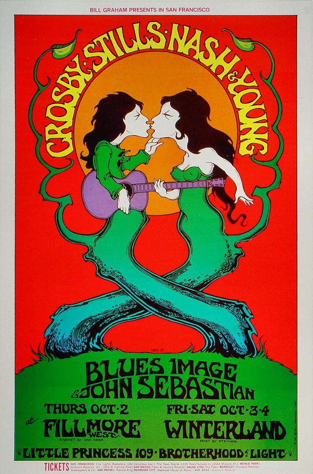 Crosby, Stills, Nash & Young Handbill