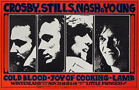Crosby, Stills, Nash &amp; Young Handbill