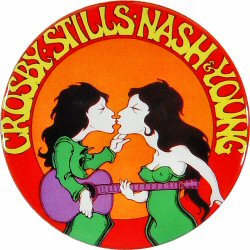 Crosby, Stills, Nash &amp; YoungRetro Pin