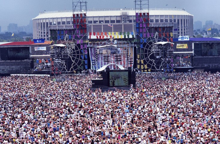 Crowd BG Archives Print