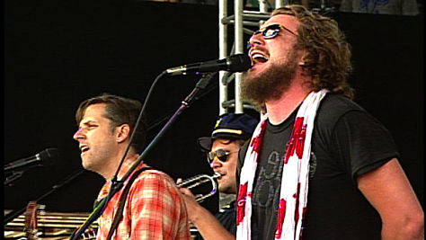 Jim James Sings Dylan at Newport