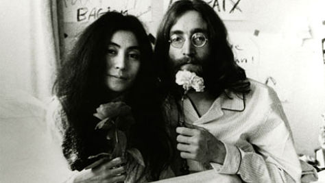 John & Yoko at the Bed-In For Peace