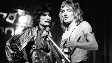 Rod Stewart and the Faces in '75