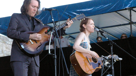 Gillian Welch at Newport Folk Fest