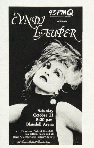 Cyndi Lauper Handbill