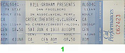 Dan Fogelberg1980s Ticket