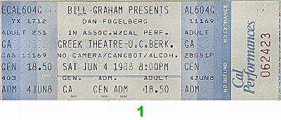 Dan Fogelberg1980s Ticket