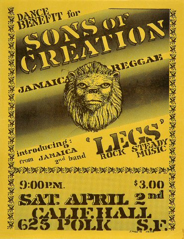 Dance Benefit for Jamaica Reggae Handbill