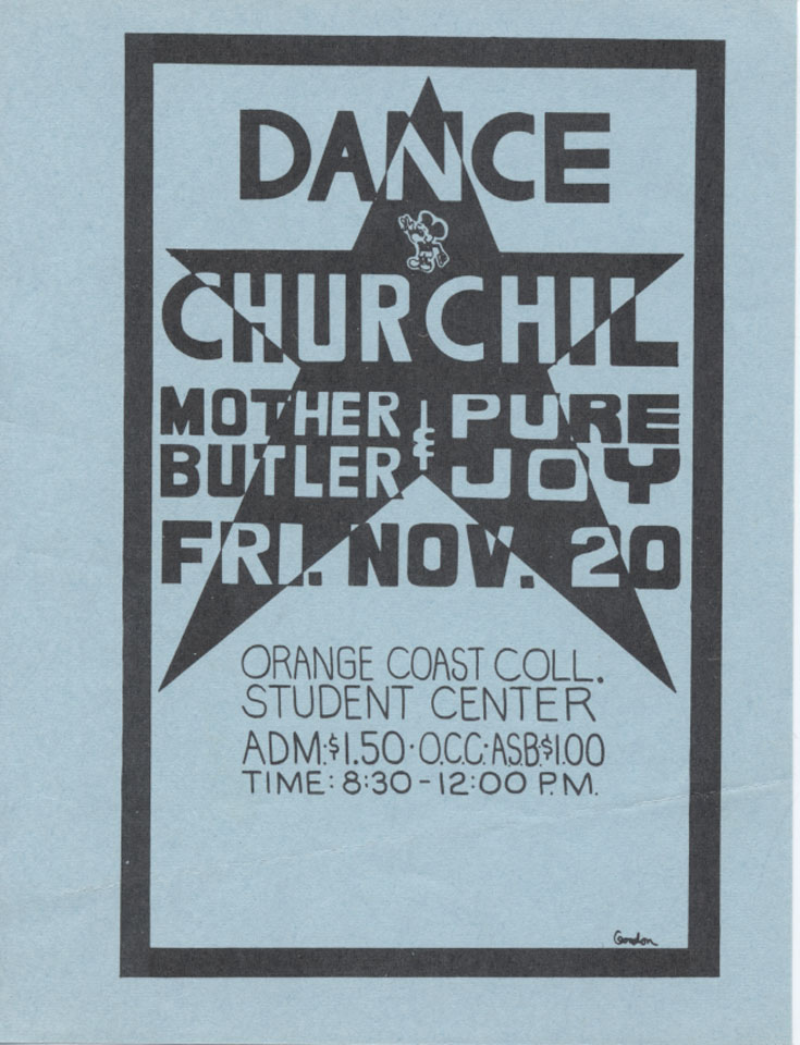 Dance Churchil Handbill