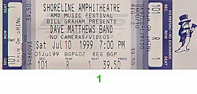 Dave Matthews Band1990s Ticket