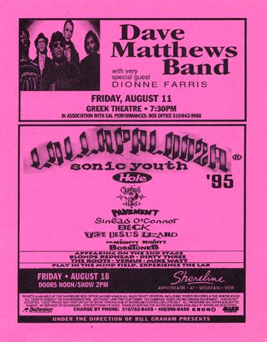 Dave Matthews BandHandbill