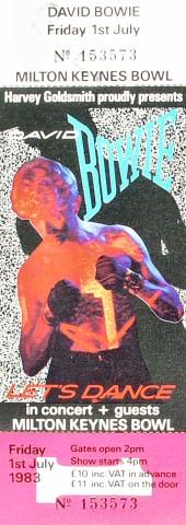 David Bowie1980s Ticket