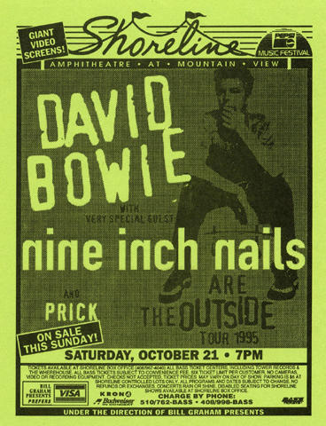 David Bowie/Nine Inch Nails Handbill
