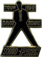David Bowie Vintage Pin