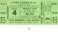 David Bromberg 1970s Ticket