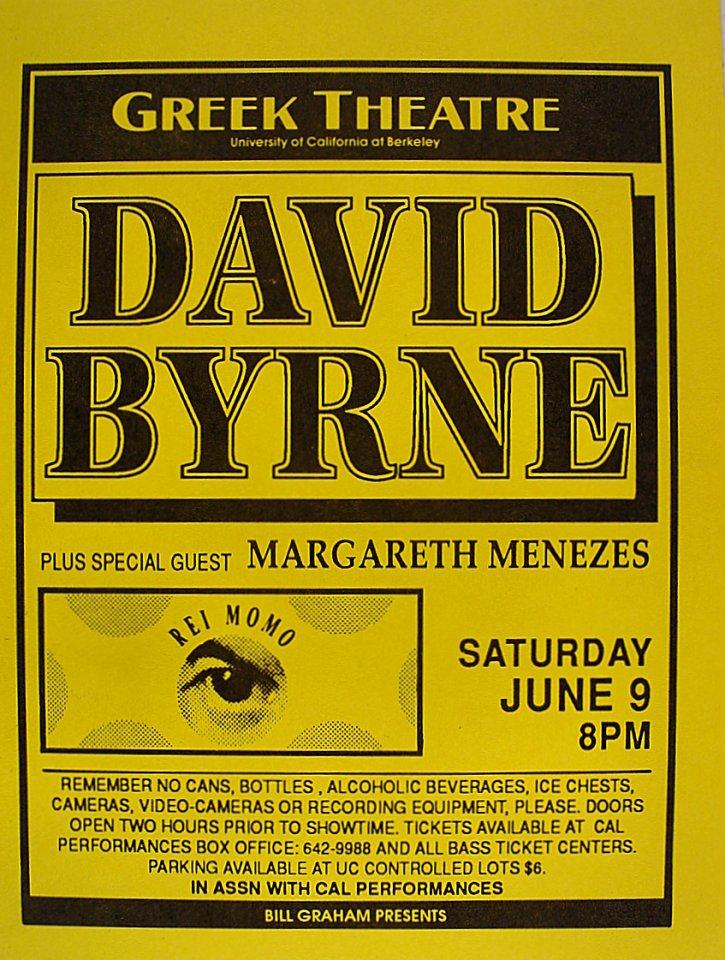 David Byrne Handbill