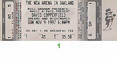 David Copperfield1990s Ticket