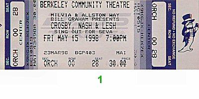 David Crosby1990s Ticket