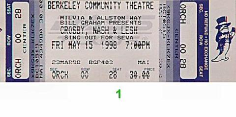 David Crosby Vintage Ticket