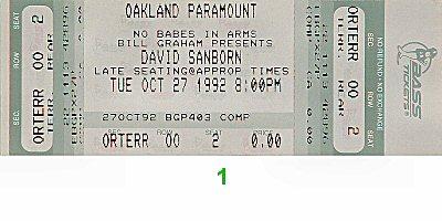 David Sanborn Group1990s Ticket