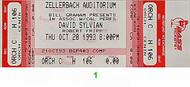 David Sylvian 1990s Ticket
