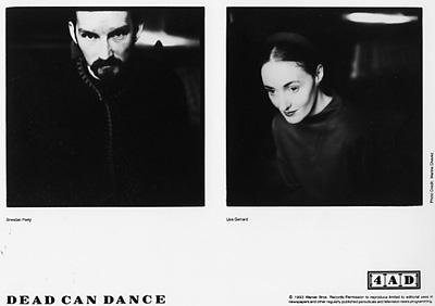Dead Can Dance Promo Print