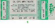 Def Leppard 1990s Ticket