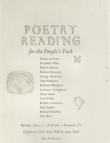 Denise Levertov Handbill