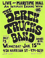 Derek Trucks Band Handbill