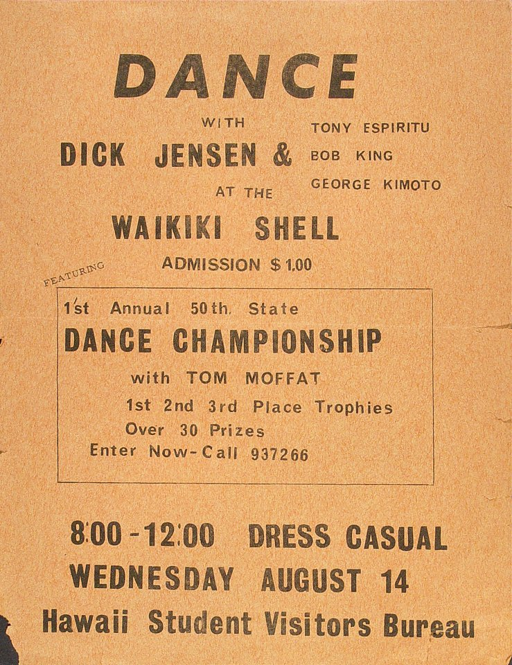 Dick JensenHandbill