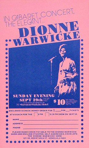 Dionne Warwick Handbill