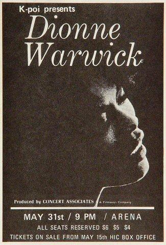 Dionne Warwick Handbill
