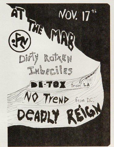 Dirty Rotten Imbeciles Handbill