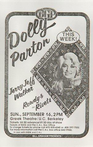 Dolly Parton Handbill