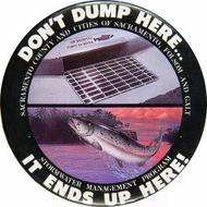 Don't Dump Here...It Ends Up Here Vintage Pin