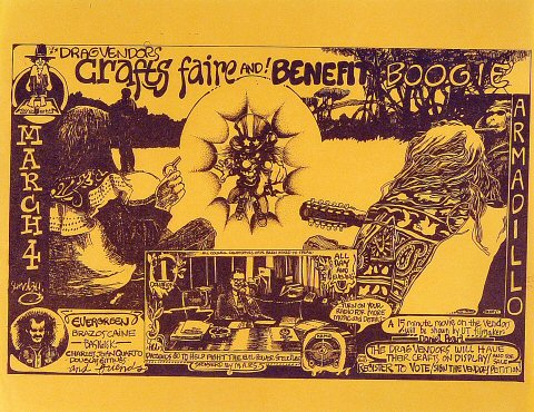 Drag Vendor's Crafts Faire and Benefit Boogie Handbill