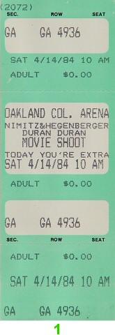 Duran Duran1980s Ticket