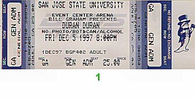 Duran Duran1990s Ticket