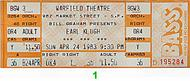Earl Klugh 1980s Ticket