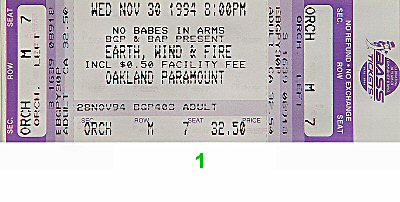 Earth, Wind & Fire 1990s Ticket