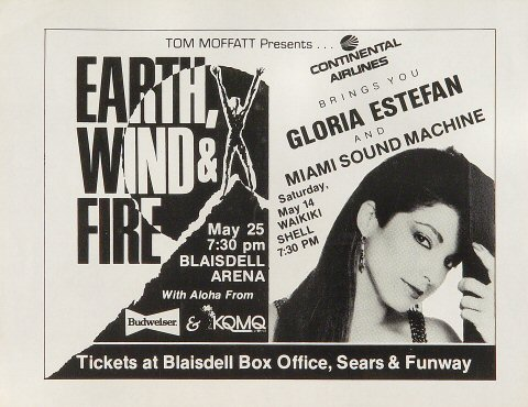 Earth, Wind & Fire Handbill