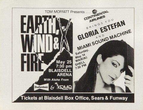 Earth, Wind &amp; Fire Handbill