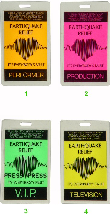 Earthquake Relief Benefit Laminate