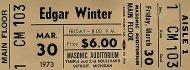 Edgar Winter Vintage Ticket