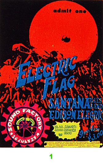 Electric Flag 1960s Ticket
