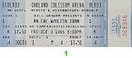Elton John 1980s Ticket