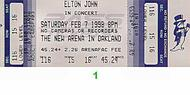 Elton John 1990s Ticket