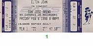 Elton John 1990s Ticket